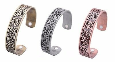 Ancient Norse Viking Irish Celtic Magnetic Health Therapy Cuff Talisman Bracelet