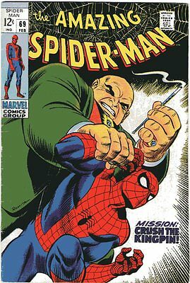 Amazing Spider-Man # 69 Beautiful Cover Art Silver Age Rare Comic Book..........