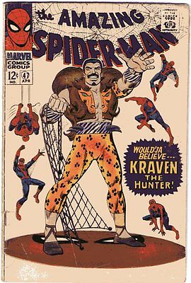 Amazing Spider-Man # 47 Beautiful Cover Art Silver Age Rare Comic Book Hot......