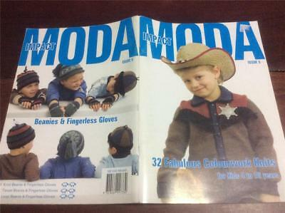 Shepherd Knitting Book MODA ISSUE 5 /32 FABULOUS COLOURWORK KNITS KIDS 1 TO 10