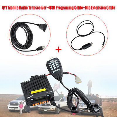 QYT KT-8900R Vehicle Dual Display Mobile Radio Transceiver +USB Programing Cable