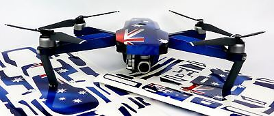Aussie Flag Drone Decal Skin Wrap Stickers for DJI Spark, Mavic Air, Mavic Pro