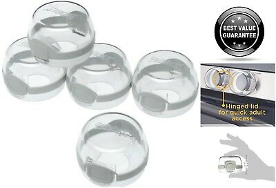 5x Clear View Safety Gas Stove Knob Covers Children Kids Baby Toddler Safe Guard