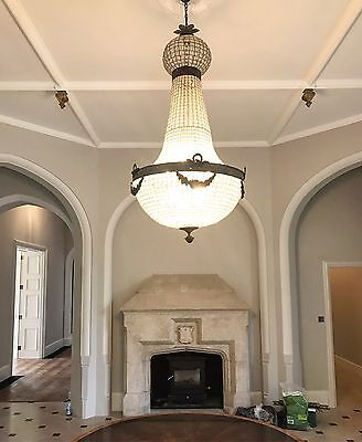 HUGE, Antique, French Style Chandelier, Vintage, Industrial, 165cm Tall