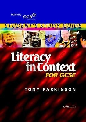 Literacy in Context for Gcse Student`s  (UK IMPORT)  BOOK NEW