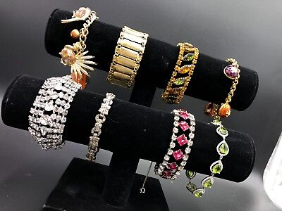 Estate Lot of High End Ladies Vintage Bracelets - Wide  Variety