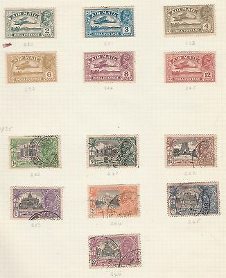 INDIA Air Mail, Jubilee Variety on Old Book Pages,As Per Scan, Removed to Send #