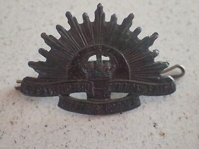 WW1/2 Era Australian Army  Rising Sun Collar Badge