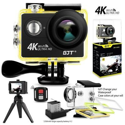 """Sports Action Camera 4K WiFi 12MP Ultra HD 30M Waterproof Camcorder 2""""LCD Screen"""