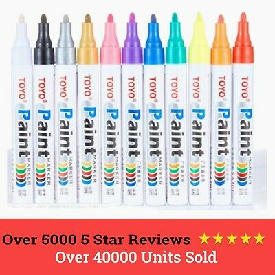 Toyo Marker Paint Pen Waterproof Universal Tyres Metal Plastic Wood Permanent