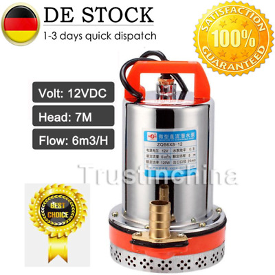 DC 12V Farm & Ranch Solar Powered 26.4GPM Submersible DC Water Well Pump 23FT