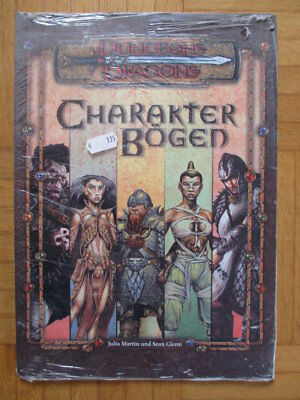 Dungeons & Dragons Charakter Bögen – #8435 Deutsch D&D Guide Source Book d20 Wot
