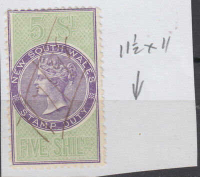 NEW SOUTH WALES 5/-  Queen Vic. REVENUE* Fine Used as Per Scan..