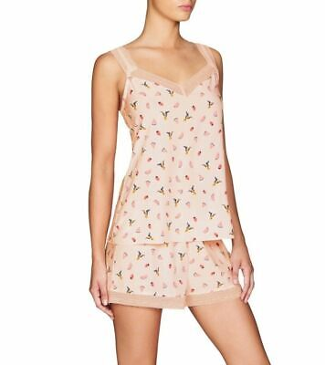 Ladies Lovable PJS 2 Piece Set Camisole Singlet and Shorts (LS50) Strawberry