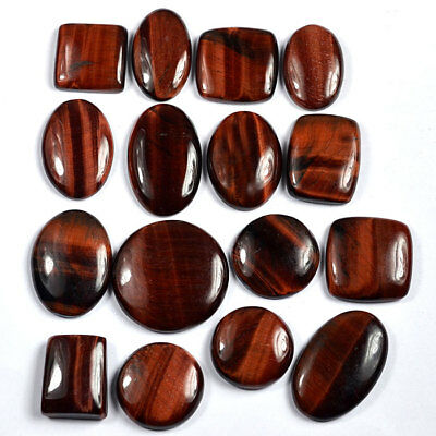 Wholesale Top Quality Glossy Finish Natural Red Tiger Eye 500 Cts./16 Pcs Gems