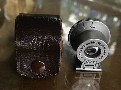 Leica Leitz 13.5cm SHOOC Finder Exc+++ Condition With Leather Case USA 135mm