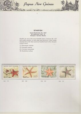 PAPUA NEW GUINEA 1987  on Illustrated Page MNH Removed  for Ship Starfish