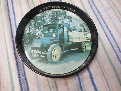 """General Tire Advertisement - Old Serving Tray - 1918 Packard 4 Cyl Delivery 12"""""""