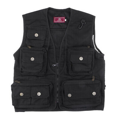 Mesh Fly Fishing Vest, Hunting Outdoor Sports Vest Multi Pocket Waistcoat