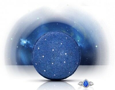 Fragrant Jewels Starry Night bath bomb with Size 6 ring inside