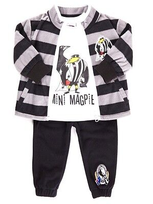 Baby, Toddlers, AFL Collingwood Magpies - 3 Piece Toddler Romper Set