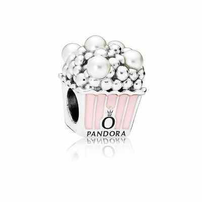 Authentic Pandora Pink White Crystal Pearls 797213EN160 Charm Bead