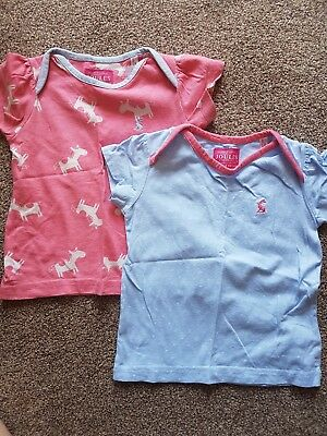 Joules T-shirts 12-18 Months