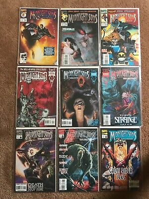 Midnight Sons Unlimited Comic Lot 9 Issues Ghost Rider Marvel