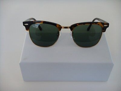 5c77d4fb55f NEW RAYBAN CLUBMASTER Sunglasses 3016 Tortoise and Green Lens W0366 ...