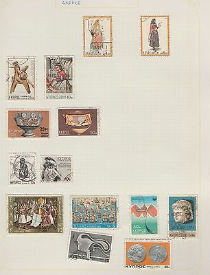 GREECE Assorted Stamps on Old Book Pages (removed to send) #
