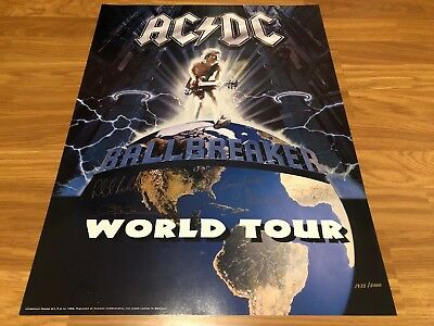 ACDC Ballbreaker Licensed Plate Signed Limited Edition Lithograph 1975/5000