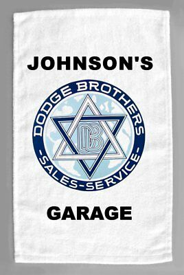 Dodge Brothers Cars Dealer Sales Service Personalized Hand Towel 11x18""