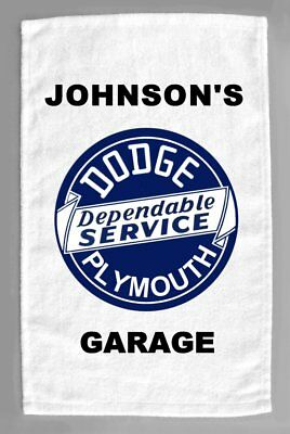 Dodge Plymouth Cars Dealer Sales Service Personalized Hand Towel 11x18""