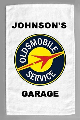 Oldsmobile 'B' Cars Dealer Sales Service Personalized Hand Towel 11x18""