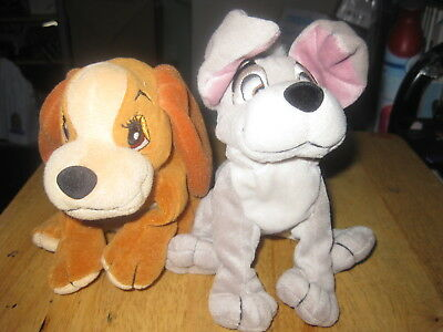 Lady and the Tramp Disney Lady AND THE TRAMP  plush beanie characterS  soft toy