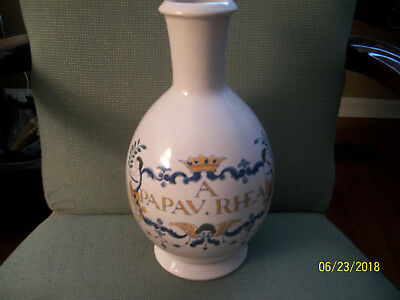 Vintage Hand Painted Delft-Holland-Apothecary Jar-11 1/2 In.-Base 4 3/8 In.