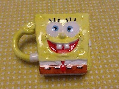 Viacom  2004  Sponge Bob      Square Pants Ceramic       Mug/Cup/Pencil Holder