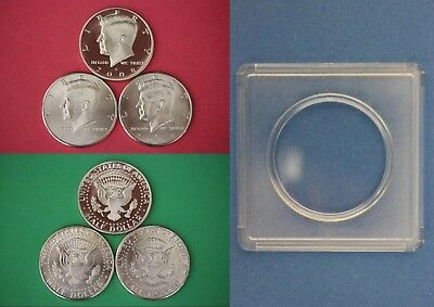 1995 P D S Kennedy Half Dollars With 2x2 Snaps from Mint Sets Combined Shipping