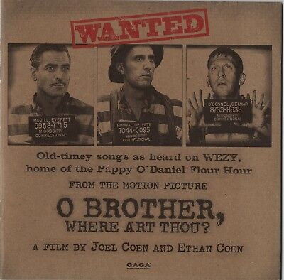 O Brother, Where Art Thou? 2000 Coen Brothers Japanese Movie Program Brochure