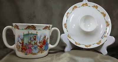 ROYAL DOULTON BunnyKins 2 Handled CUP & EGG CUP Lot of 2