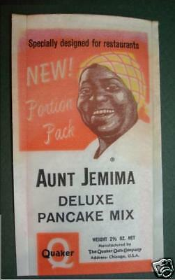 2 Aunt Jemima Pancake Quaker Oats Portion Pack Bags Sample Size