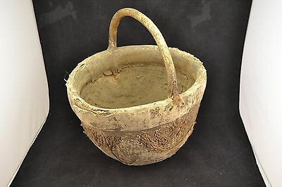 Vintage Chinese Clay Lined Utility Basket               ND1143