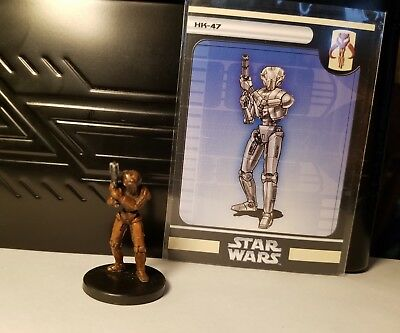 Star Wars Miniatures HK-47 57/60 Very Rare - Champions of the Force WITH CARD