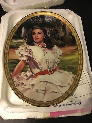 """Gone with the Wind Bradford Exchange Plate """"Sunlight Radiance"""" - New with COA"""