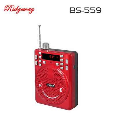 Portable Bluetooth Speaker Radio with Microphone USB/MIC FM Radio Red