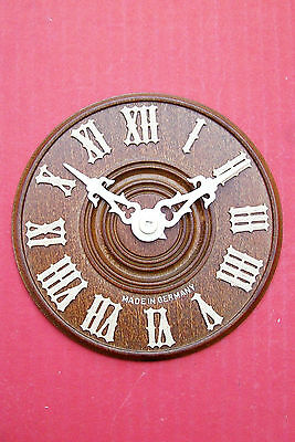 Dials Black Forest made all wood for Cuckoo clocks complete with cream hands.