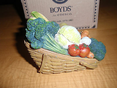 "BOYD'S LONGABERGER EXC.""VEGETABLE TREASURE BASKET"" #393102LB, First Edition, NEW"