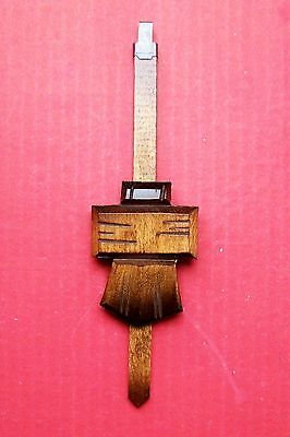 New genuine black Forest cuckoo clock pendulum,  medium chalet style,  ( 6 )