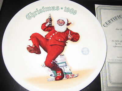 Norman Rockwell 1989 Christmas Collector Plate - Jolly Old St Nick