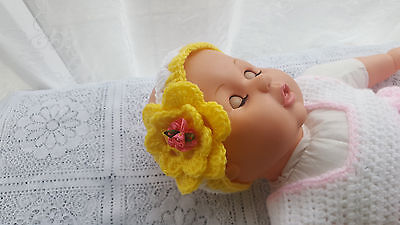 Baby Headbands Crochet Patterns For 0-3Months Old And Reborn Dolls.